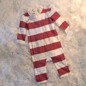 Polo Ralph Lauren Red/Ivory Striped Onesie